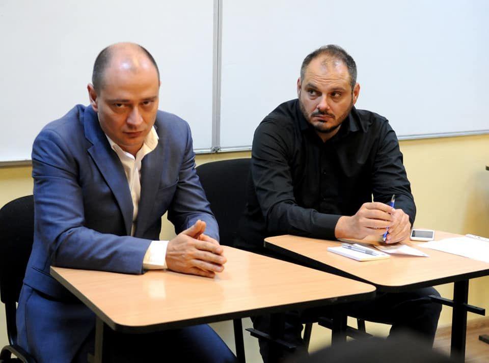 primarul Sectorului 4, Daniel Baluta, si consilierul Cristian Zarescu