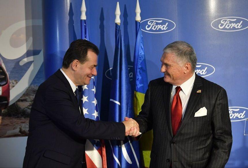 premierul Ludovic Orban si ambasadorul SUA Adrian Zuckerman