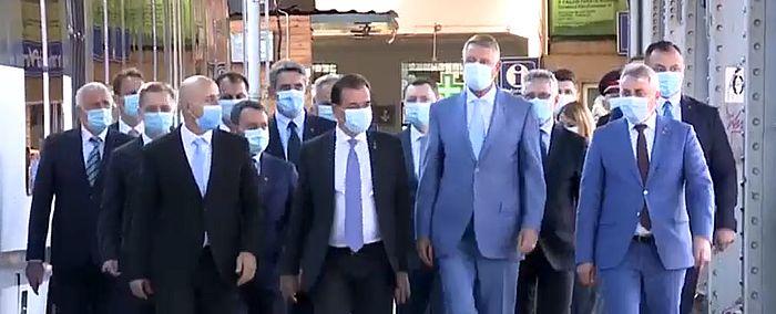 Iohannis a mers cu trenul Gara de Nord Aeroportul Henry Coanda