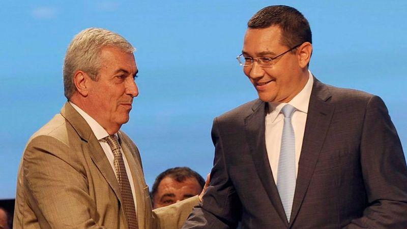 Victor Ponta (foto dreapta) si Calin Popescu Tariceanu (foto stanga) au lansat partidul Pro Romania Social Liberal