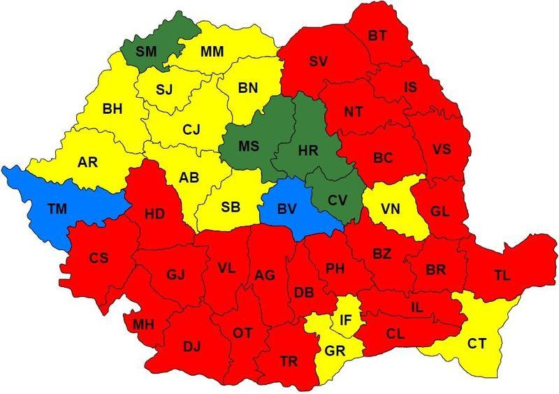 REZULTATELE ALEGERILOR PE JUDETE – PSD a luat aproape dublu fata de PNL. Vedeti cum s-a impartit Romania intre PSD, PNL, UDMR si USR PLUS